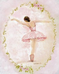 PRINT ON PAPER - Ballerina - FREE  Shipping WORLD WIDE
