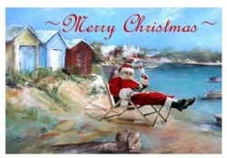 Gift Card-Single card - Christmas Beach - Free Postage Australia wide only