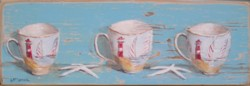 Hand Painted - Beach Tea Cups - Postage is included Australia wide