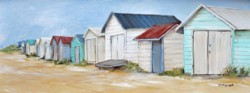 Ready to hang Print - Mornington Beach Huts - FREE POSTAGE Australia wide