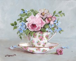 Blooms in a Tea Cup - Postage is included for Australia only