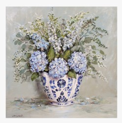 Fabric print - Hydrangea Arrangement - Postage is included Australia Wide