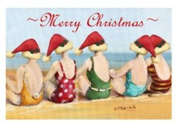 Gift Card-Single card - Christmas Girls - Free Postage Australia wide only