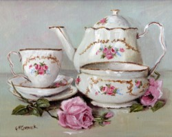 PRINT ON PAPER - China Tea Set - FREE POSTAGE WORLDWIDE