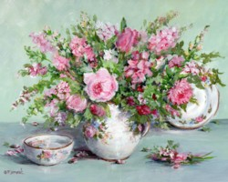 Cottage Flowers & China - Postage is included Australia Wide