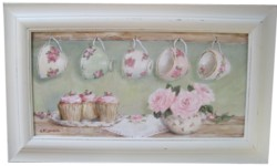 Original Painting  - Cups and Cup Cakes -  Postage is included in the price Australia Wide