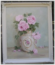 Original Painting - Early Rose Blooms - Larger Size - Postage is included Australia wide