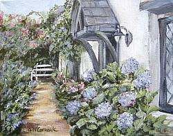 Fig Tree Cottage Garden view - Available as prints and gift cards