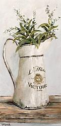 Ready to hang Print - The French Enamel Jug  (41 x 20cm) FREE POSTAGE Australia wide