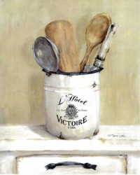 Ready to hang Print - French typography Cooking Utensils - FREE POSTAGE Australia wide