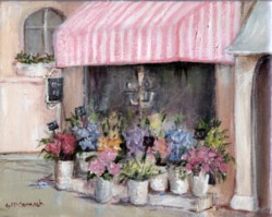 Ready to Frame Print  - French Flower Shop - Postage is included Worldwide