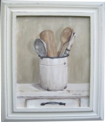 Original Painting - French Country Cooking Utensils - Postage is included Australia wide