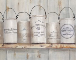 Ready to Frame Print - French Themed Tins - Postage is included Worldwide
