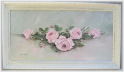 Original Painting - Larger size - Fresh Laying Roses - Postage is included Australia wide