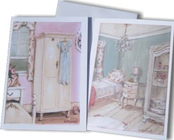 Gift Cards - set of 2 - Pink Bedroom and Guest Room - Free Postage Australia wide only