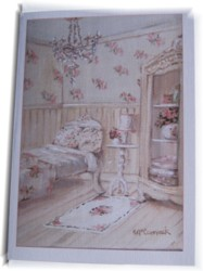 Gift Card-Single card - The Shabby Chic Floral Guest Room - Free Postage Australia wide only