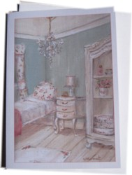 Gift Card-Single card - The Shabby Chic Guest Room - Postage included Worldwide