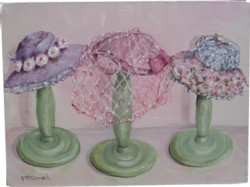 Original Painting on Canvas - Hats - Postage is included Australia Wide