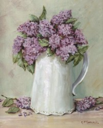 PRINT ON PAPER - Lilacs in a White Jug - Postage is included WORLDWIDE!