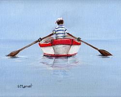 Boy in a Boat - Available as prints and gift cards