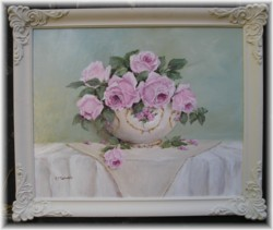 Original Painting - Simply Pink Roses - FREE POSTAGE Australia wide