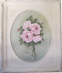 ORIGINAL Painting - Oval Bouquet of Roses - Postage is included in the price Australia Wide