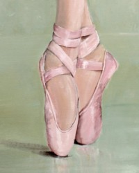 Ready to Frame Print  - Pointe Shoesclose - Postage is included Worldwide