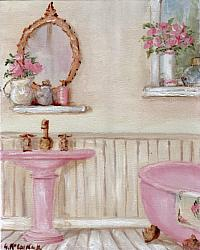 Pretty Bathroom - available as Prints and Gift Cards