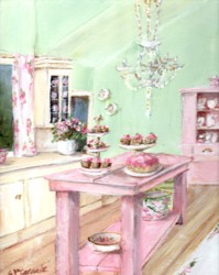 PRINT ON PAPER - The Pink Kitchen Bench