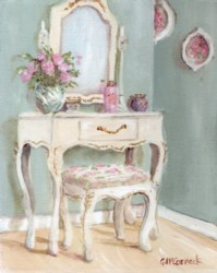 PRINT ON PAPER - Single Drawer Dressing Table