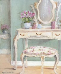 PRINT ON PAPER - Three drawer dressing table