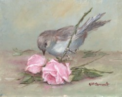 PRINT ON PAPER - Sweet  Bird and Roses