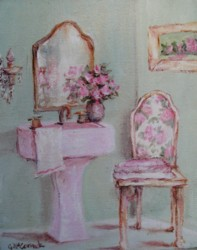 Ready to Frame Print  - The Pink Bathroom - Postage is included Worldwide