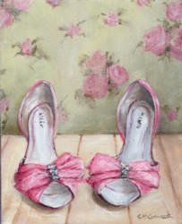 Ready to Frame Print  - Ellie's Pink Shoes - Postage is included Worldwide