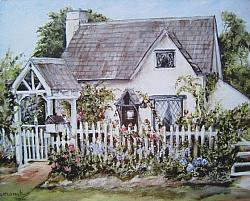 Fig Tree Cottage - Available as prints and gift cards