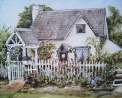 Ready to Frame Print  - Fig Tree Cottage - Postage is included Worldwide