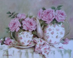 Morning Tea and Roses - Postage is included Australia Wide