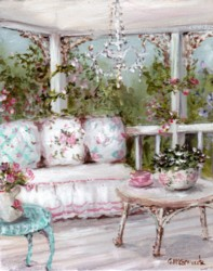 Ready to Frame Print  - The Shabby Chic Verandah Room - Postage is included Worldwide