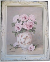 Original Painting - Jug of Roses  - Postage is included Australia wide
