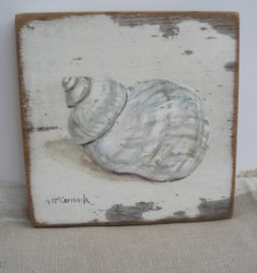 Original Beach Themed Painting C/B - Sea Shell - Postage is included Australia wide