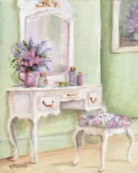 PRINT ON PAPER - Floral Shabby Chic Bedroom - FREE  Shipping WORLD WIDE