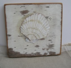 Original Beach Themed Painting - Shell C/B - Postage is included Australia wide