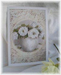 Gift Card single - Simply White on Ceiling Tin BG Free Postage Australia wide only