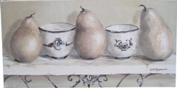Original Painting on Canvas - Still Life Shelf  - Postage is included Australia Wide