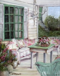 PRINT ON PAPER -The Front Porch - FREE  Shipping WORLD WIDE