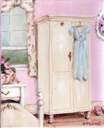 Ready to Frame Print  - The Pink Bedroom - Postage is included Worldwide