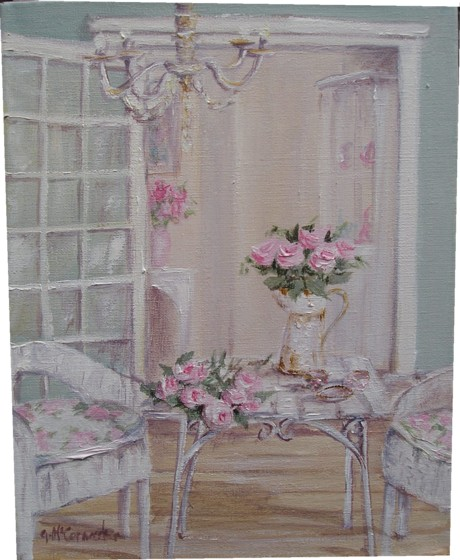 Gail mccormack shabby chic original painting - Cuadros shabby chic ...