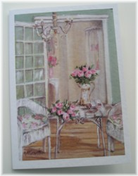 Gift Card-Single card - The Shabby Chic Verandah - Postage included Worldwide