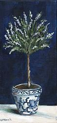 Original Painting on Canvas - B & W TOPIARY Lavender - postage included Australia wide