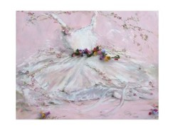 Gift Card-Single card - Tutu with flowers - Postage included Worldwide